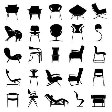 vintage styled design: modern chair vector