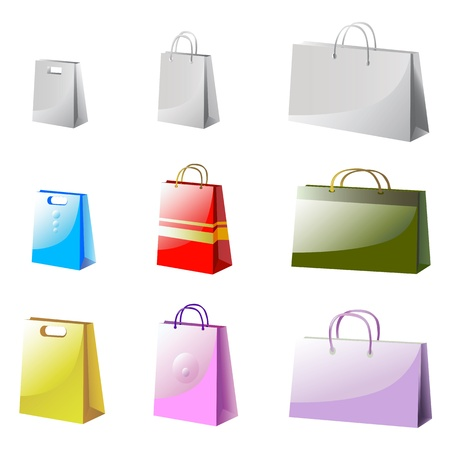mall shopping: package vector