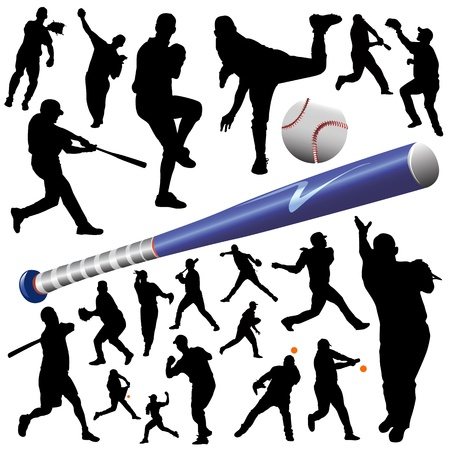 baseball game: collection of baseball vector