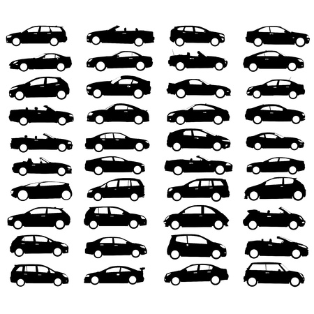 rev counter: collection of car and wheel vector  Illustration