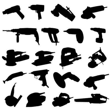 collection of power tool vector Vector