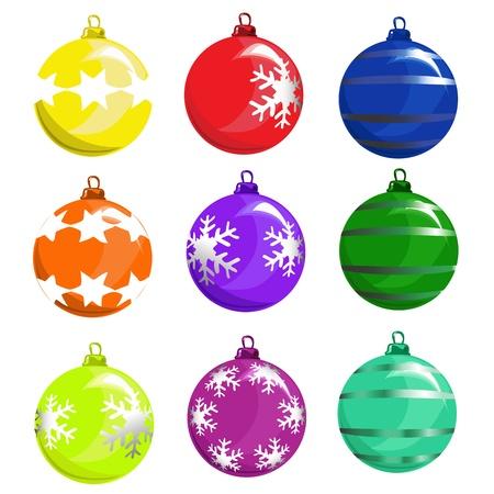 winter solstice: christmas tree ball vector