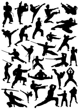 ninja: Sammlung von Fighter Vektor