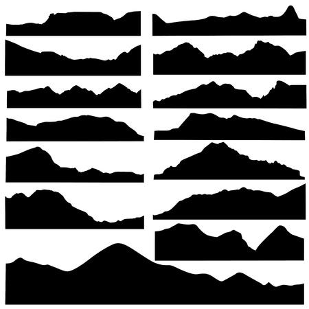 mountain peaks: mountain set vector