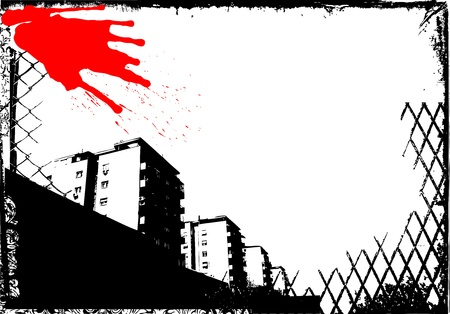 grunge city vector  Vector