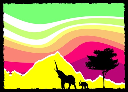 fantastic nature scene vector Vector