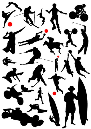 collection of sports vector Stock Vector - 9658255