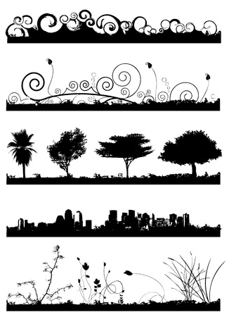 at the edge of: background set vector