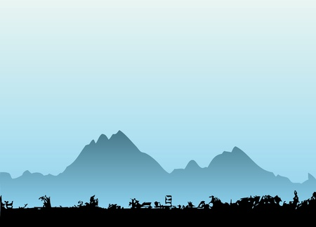 mountain vector Stock Vector - 9658325