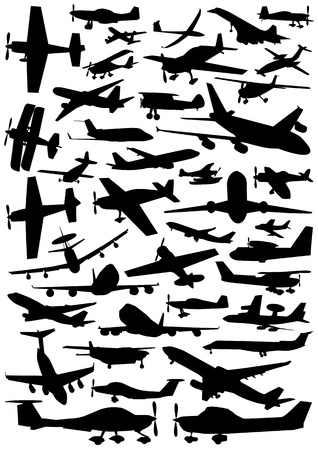 aircraft bomber: collection of plane vector  Illustration