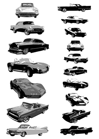 rev: set of cars vector
