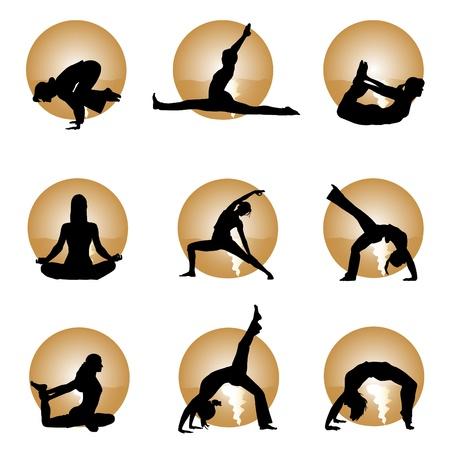 yoga Stock Vector - 9658228