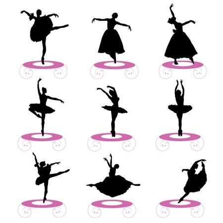 lyrical dance: ballet set Illustration