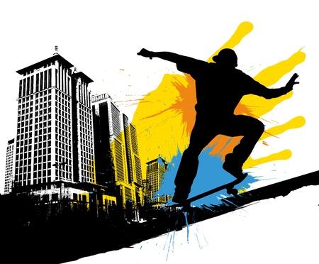 skateboard park: monopat�n Vectores