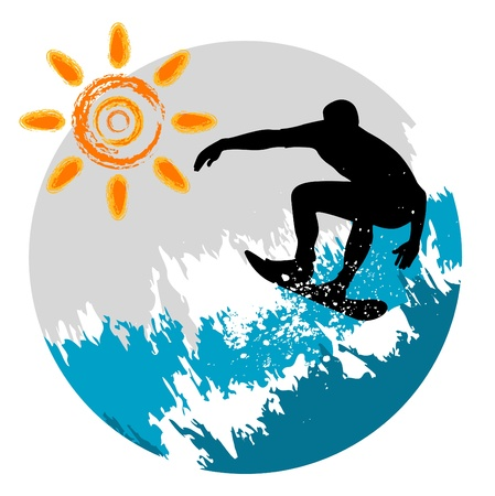 surfing Stock Vector - 9658298