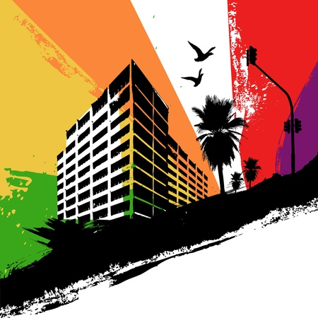 urban life: rainbow city