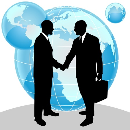 shake hands: business peoples Illustration