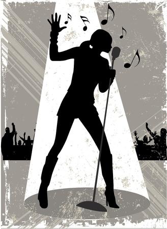 silueta bailarina: vector de la cantante.