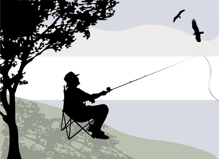 man fishing: fisherman
