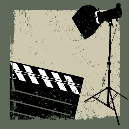 film industry: film background Illustration