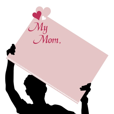 mothers day message  Vector