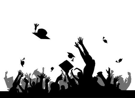 graduation background: graduation party vector Illustration