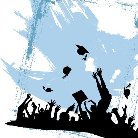 diplom studen: Graduation Party-Vektor