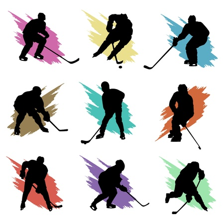 hockey equipment: ice hockey  Illustration