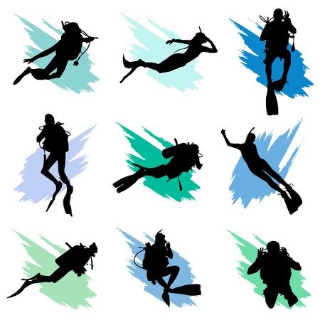 Scuba diving  Vector Illustratie