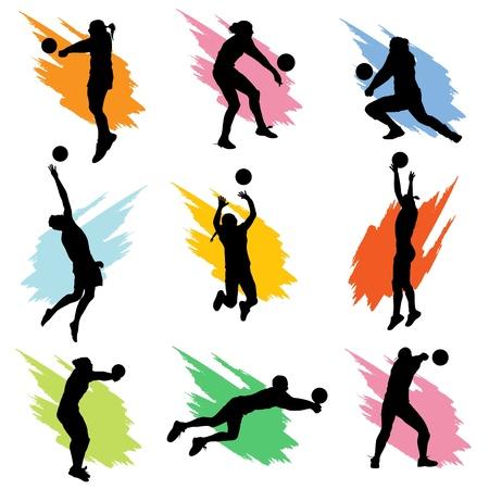 pallavolo: pallavolo  Vettoriali