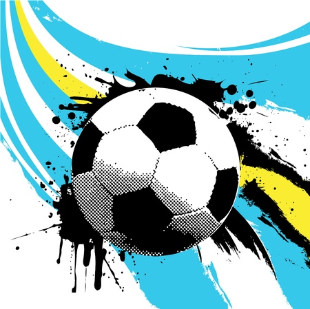 black grunge background: soccer ball
