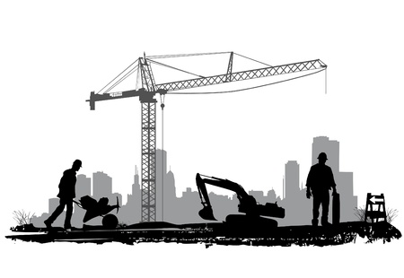 construction crane: construction  Illustration