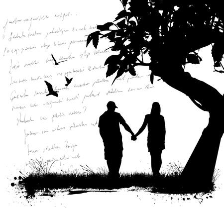 amor de pareja Ilustración de vector