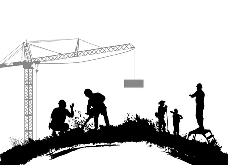 worker silhouette: construction