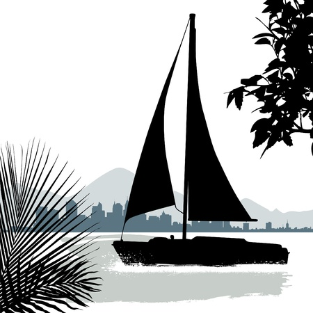 sails: sailing boat