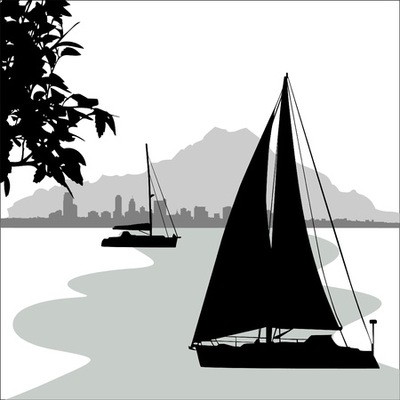 sailing boat Stock Vector - 9717987