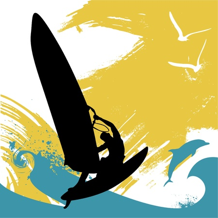 wind surfing: surfing
