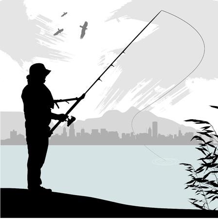 resting rod fishing: fishing