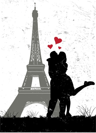 french culture: paris in love  Illustration