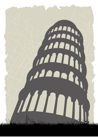 tilting: pisa tower italy