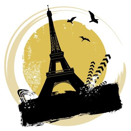 Torre Eiffel Ilustración de vector
