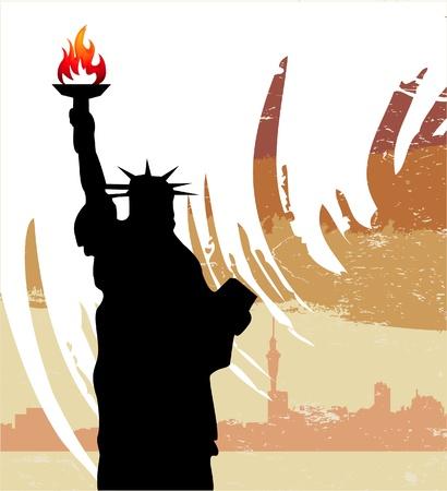 sehnsucht: Statue of Liberty Illustration