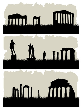 ancient architecture Vector