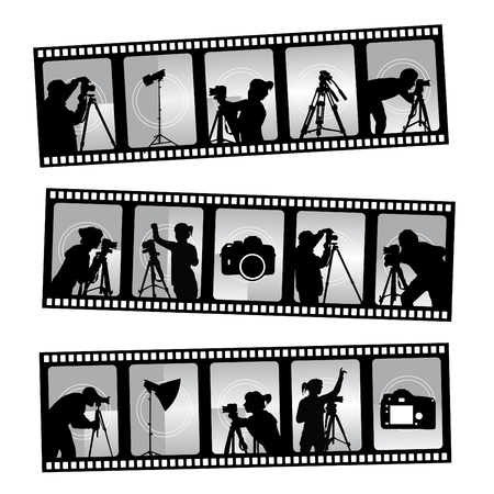 film shooting: photography filmstrip