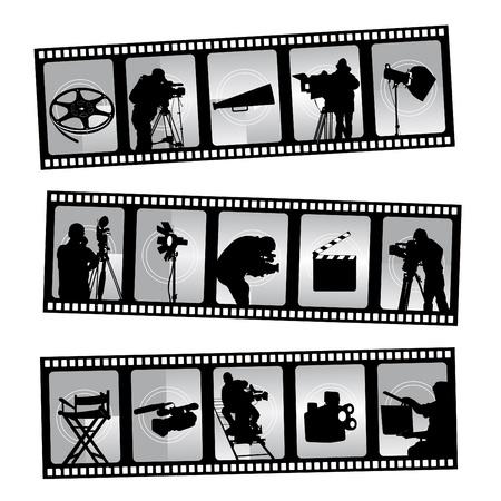 movie set: movie filmstrip
