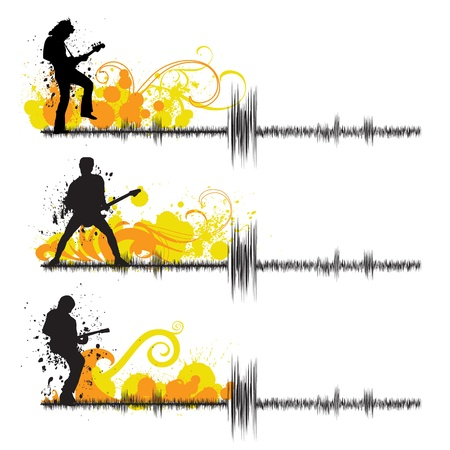 guitar players  Vector