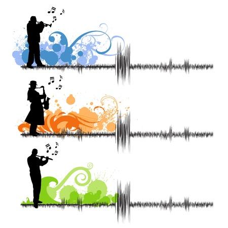 joueurs de saxophone, trompette