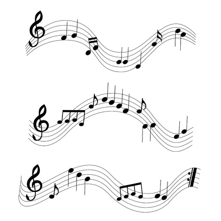 3 different music notes Stock Vector - 9757605