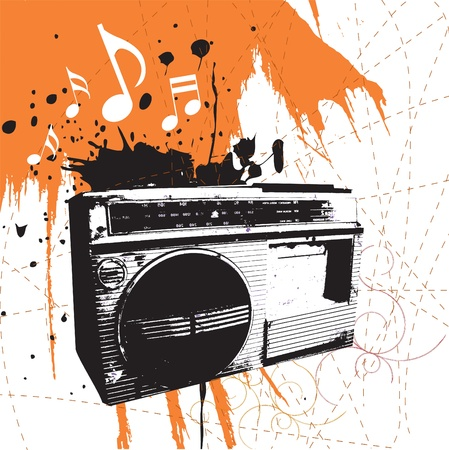recorder: boom box  Illustration