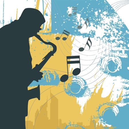 jazz club: saxophoniste